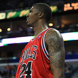 04 February 2009:  Chicago Bulls forward Tyrus Thomas (24) reacts to a play during a 93-107 loss by the New Orleans Hornets to the Chicago Bulls at the New Orleans Arena in New Orleans, LA.