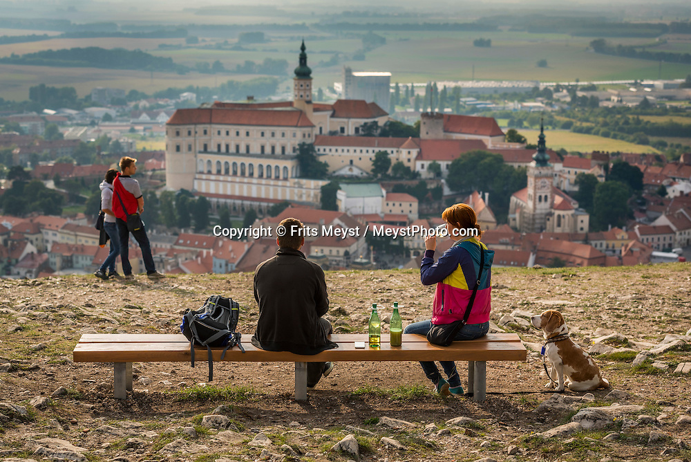 Mikulov, Moravia, Czech Republic, September 2015. Drinking Burcak, fermented grape juice during the Palava wine festival. Mikulov is arguably the most attractive of the southern Moravian wine towns, surrounded by white, chalky hills and adorned with an amazing hilltop Renaissance chateau, visible for miles around. The South Moravian region of Pálava, which is a part of UNESCO Lower Morava Biosphere Reserve, is undoubtedly one of those places. A beautiful landscape of dazzlingly white rocks, blossoming meadows, lowland forests, romantic ruins of medieval castles, crystal-clear lakes and sun-drenched vineyards. All of this in a region that has one of the warmest climates in the Czech Republic and offers excellent opportunities for hiking, cycling, water sports and dining which you will remember for a long time to come. Southern Moravia is most famous for its wine,  rolling hills and pretty landscapes. Photo by Frits Meyst / MeystPhoto.com