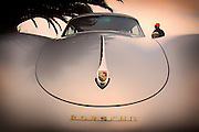 Image of a 1958 silver Porsche 356 Cabriolet with a hardtop in Costa Mesa, Orange County, California
