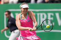 NOTTINGHAM, ENGLAND - JUNE 13: Mona Barthel of Germany in action against Magdalena Rybarikova of Slovakia during Day Five of the Nature Valley Open at Nottingham Tennis Centre on June 13, 2018 in Nottingham, United Kingdom.