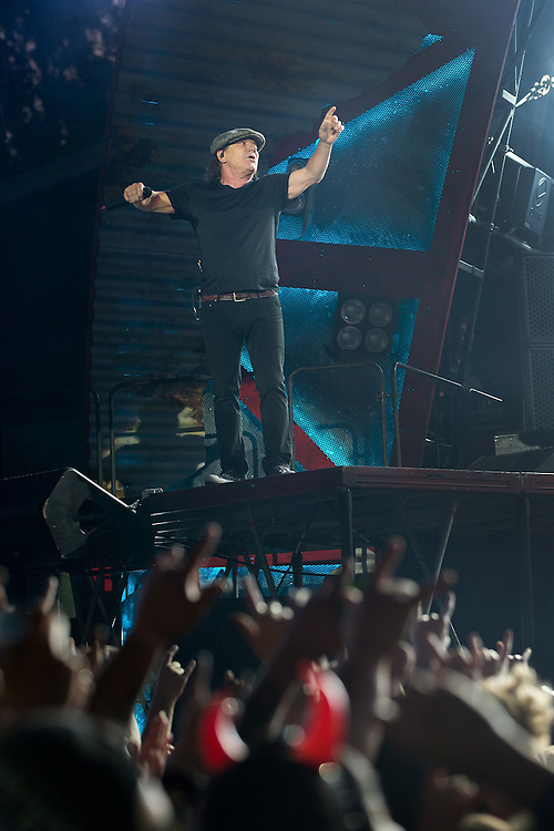 Brian Johnson, AC/DC Rock or Bust tour, Western Springs, Auckland, New Zealand, Tuesday, December 15, 2015.   Credit: SNPA / David Rowland