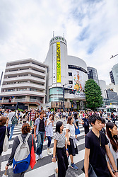 Busy pedestrian crossing at Omotesando in Tokyo Japan