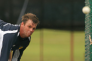 Shane Harwood of the Victorian Bushrangers sends down a delivery during the Bushrangers training session held at St Georges Park in Port Elizabeth on the 17 September 2010..Photo by: Shaun Roy/SPORTZPICS/CLT20