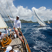 Sincerity at the Antigua Classic Yacht Regatta.<br />