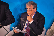 Microsoft's Bill Gates, addressing  the Climate Action Summit in the United Nations General Assembly, at U.N. headquarters, Monday, Sept. 23, 2019.