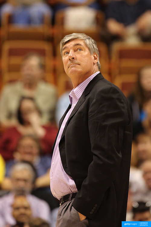 New York Liberty Head Coach Bill Laimbeer during the Connecticut Sun V New York Liberty WNBA pre season game at Mohegan Sun Arena, Uncasville, Connecticut, USA. 11th May 2013. Photo Tim Clayton