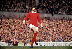 1968: Belfast-born George Best on the pitch for Manchester United. Best joined Manchester United from school and made his senior debut at the age of 17. Best was voted Footballer of the Year for 1968.