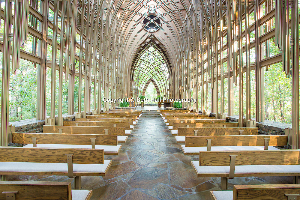 For the November 2014 issue of Money Magazine.<br /> <br /> The Mildred B. Cooper Memorial Chapel on Wednesday, Oct. 1, 2014, in Bella Vista, Ark. The chapel was designed by E. Fay Jones and constructed in 1988. Photo by Beth Hall