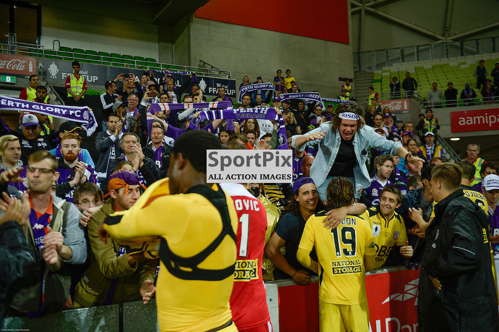 Perth fans wait for the team after their 2:0 loss to Victory  in the Westfield FFA Cup Final, 7th November 2015, Melbourne Victory FC v Perth Glory FC - © Mark Avellino | SportPix.org.uk