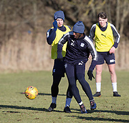 Roarie Deacon and Craig Wighton of Dundee - Dundee FC training , Picture by David Young -