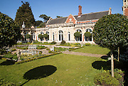 The White Garden, Somerleyton Hall country house, near Lowestoft, Suffolk, England, UK