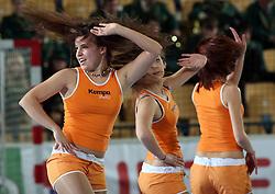 Cheerleaders Ladies during the 1st Main round of EHL Champions League match between RK Celje Pivovarna Lasko (SLO) and Rhein Neckar Lowen (GER), on February 14, 2009, in Arena Zlatorog, Celje, Slovenia. Rhein Neckar Lowen won 34:28.  (Photo by Vid Ponikvar / Sportida)