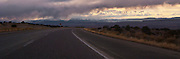 Interstate 70 and US highway US 50,  cross the San Rafael Swell of Green River, Utah panorama