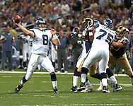 Seattle quarterback Matt Hasselbeck (8) during action at the Edward Jones Dome in St. Louis, Missouri, October 15, 2006.  The Seahawks beat the Rams 30-28.<br />