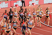 A large field during the Women's 1500m at the Muller Grand Prix at Alexander Stadium, Birmingham, United Kingdom on 18 August 2018. Picture by Ian Stephen.