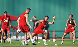 BOSTON, MASSACHUSETTS, USA - Saturday, July 20, 2019: Liverpool's Trent Alexander-Arnold during an open training session at Fenway Park ahead of a friendly against Seville on day five of the club's pre-season tour of America. (Pic by David Rawcliffe/Propaganda)