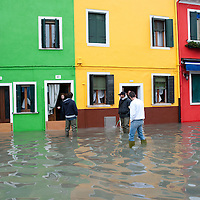 Exceptional High Tide in Venice and Burano