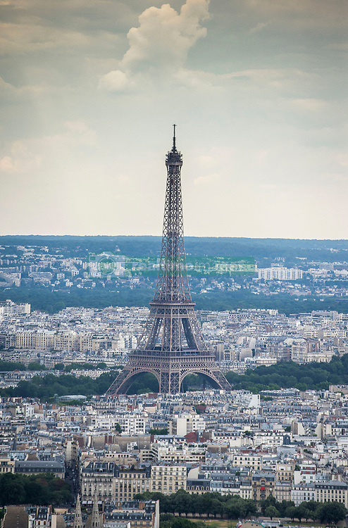 An aerial picture taken on July 11, 2019 over Paris, France, shows the Eiffel Tower. Photo by Eliot Blondet/ABACAPRESS.COM  Tour Eiffel Eiffel Tower Illustration Illustration  | 691544_002 Paris France