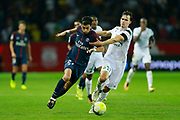 Paris Saint Germain's Argentinian forward Pastore runs with the ball during the French championship L1 football match between Paris Saint-Germain (PSG) and Saint-Etienne (ASSE), on August 25, 2017 at the Parc des Princes in Paris, France - Photo Benjamin Cremel / ProSportsImages / DPPI