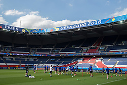 PARIS, FRANCE - Friday, June 24, 2016: Northern Ireland's players during a training session at the Parc des Princes ahead of the Round of 16 UEFA Euro 2016 Championship match against Wales. (Pic by Paul Greenwood/Propaganda)