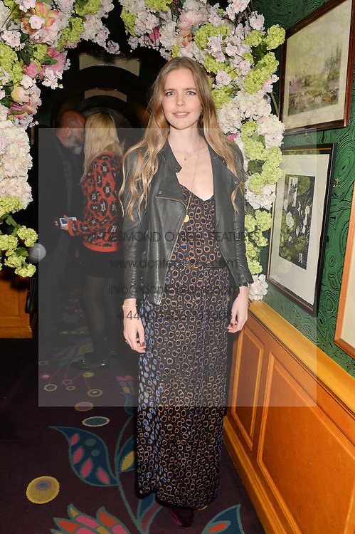 KATIE READMAN at a party to celebrate Alice Naylor-Leyland's Collaboration with French Sole held at Annabel's, 44 Berkeley Square, London on February 2nd 2016