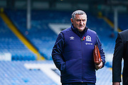 Tony Mowbray of Blackburn Rovers (Manager) arrives at the ground during the EFL Sky Bet Championship match between Leeds United and Blackburn Rovers at Elland Road, Leeds, England on 9 November 2019.