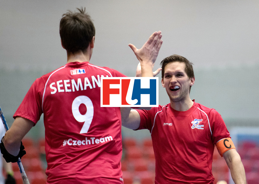 BERLIN - Indoor Hockey World Cup<br /> Czech Republic - Poland<br /> foto: Martin Seeman AND Martin Hanus <br /> WORLDSPORTPICS COPYRIGHT FRANK UIJLENBROEK