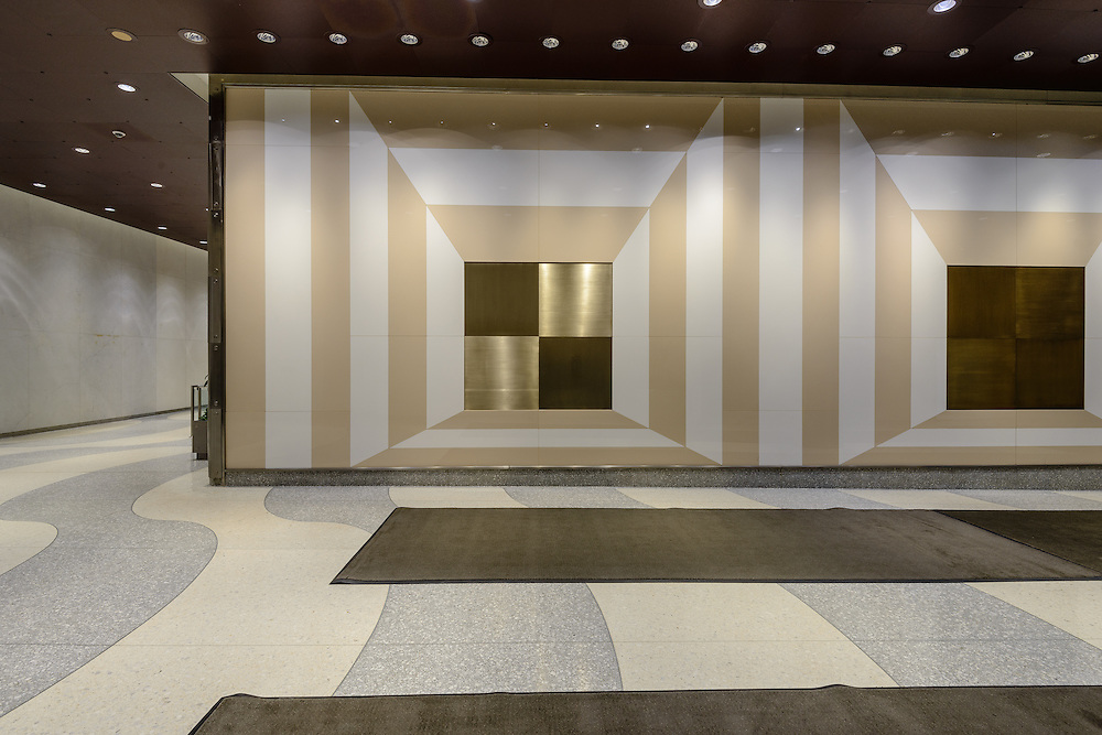 """Josef Alber 's painitng. """"Two Portals"""", Time & Life Building (lobby). 1271 6th Ave, New York City, New York"""