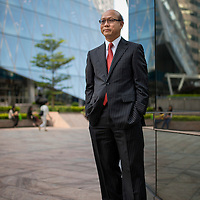 Alfred Chi, from The Bank of East Asia poses at the Stock Exchange headquarters in Hong Kong on 20 October 2014 in Hong Kong, China. Photo by Xaume Olleros / studioEAST.