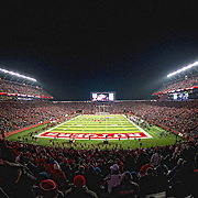 November 29, 2012:   A general view of a sold out High Points Solution Stadium during the game between Louisville Cardinals and Rutgers Scarlet Knights in Piscataway, NJ.  Louisville defeated Rutgers 20-17. The Louisville Cardinals won the Big East Championship and advanced to a BCS bowl. (Credit Image: © Kostas Lymperopoulos/Cal Sport Media)