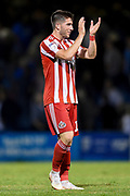 Sunderland midfielder Lynden Gooch (11) applauds the fans after  the EFL Sky Bet League 1 match between Gillingham and Sunderland at the MEMS Priestfield Stadium, Gillingham, England on 22 August 2018.