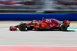 October 21, 2018 - Austin, TX, U.S. - AUSTIN, TX - OCTOBER 21: Ferrari driver Kimi Raikkonen (7) of Finland races towards turn 16 during the F1 United States Grand Prix on October 21, 2018, at Circuit of the Americas in Austin, TX. (Photo by John Crouch/Icon Sportswire) (Credit Image: © John Crouch/Icon SMI via ZUMA Press)