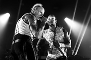 Keith Flint and Maxim Reality of The Prodigy perform live on stage at O2 Academy Brixton on December 21, 2017 in London, England.  (Photo by Simone Joyner)