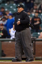 SAN FRANCISCO, CA - APRIL 21:  MLB umpire Fieldin Culbreth #25 stands on the field before the game between the San Francisco Giants and the Los Angeles Dodgers at AT&T Park on April 21, 2015 in San Francisco, California.  The San Francisco Giants defeated the Los Angeles Dodgers 6-2. (Photo by Jason O. Watson/Getty Images) *** Local Caption *** Fieldin Culbreth