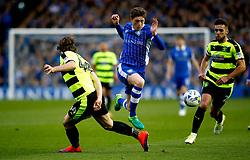 Adam Reach of Sheffield Wednesday takes on Michael Hefele of Huddersfield Town - Mandatory by-line: Matt McNulty/JMP - 17/05/2017 - FOOTBALL - Hillsborough - Sheffield, England - Sheffield Wednesday v Huddersfield Town - Sky Bet Championship Play-off Semi-Final 2nd Leg