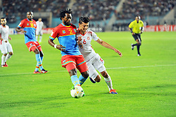 September 1, 2017 - Tunis, Tunisia - Rabi Bedoui(6) of Tunisia and Issama Mpeko(2)of Congo  during the qualifying match for the World Cup Russia 2018 between Tunisia and the Democratic Republic of Congo (RD Congo) at the Rades stadium in Tunis. (Credit Image: © Chokri Mahjoub via ZUMA Wire)