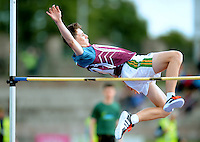 21 Aug 2016: Ryan Gallagher, from Galway. Boys U16 High Jump final.  2016 Community Games National Festival 2016.  Athlone Institute of Technology, Athlone, Co. Westmeath. Picture: Caroline Quinn