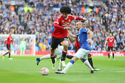 Marouane Fellaini of Manchester United shoots at goal during the The FA Cup semi final match between Everton and Manchester United at Wembley Stadium, London, England on 23 April 2016. Photo by Phil Duncan.