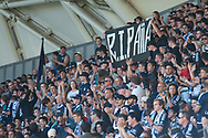 MELBOURNE, VIC - JANUARY 20: Fans stand for Aiia during the Hyundai A-League Round 14 soccer match between Melbourne Victory and Wellington Phoenix at AAMI Park in VIC, Australia on 20th January 2019. Image by (Speed Media/Icon Sportswire)