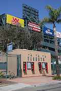ANAHEIM, CA - MAY 14:  View from outside the stadium prior to the Los Angeles Angels of Anaheim game against the Boston Red Sox at Angel Stadium in Anaheim, California on Thursday, May 14, 2009.  The Angels defeated the Red Sox 5-4 in 12 innings.  (Photo by Paul Spinelli/MLB Photos)