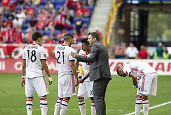 September 22, 2018 - Harrison, New Jersey, United States - Head coach Greg Vanney of Toronto FC instructs players during regular MLS game against New York Red Bulls at Red Bull Arena Red Bulls won 2 - 0 (Credit Image: © Lev Radin/Pacific Press via ZUMA Wire)