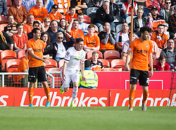 Inverness Caledonian Thistle's Josh Meekings (6) cele scoring their goal. <br /> Dundee United 1 v 1 Inverness Caledonian Thistle, SPFL Ladbrokes Premiership game played 19/9/2015 at Tannadice.