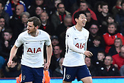 Jan Vertonghen (5) of Tottenham Hotspur and Son Heung-Min (7) of Tottenham Hotspur during the Premier League match between Bournemouth and Tottenham Hotspur at the Vitality Stadium, Bournemouth, England on 11 March 2018. Picture by Graham Hunt.