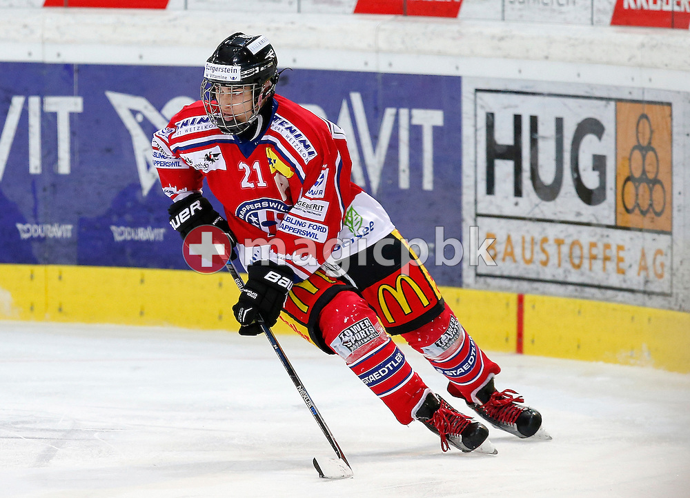 Rapperswil-Jona Lakers forward Frantisek REHAK is pictured during a Novizen Elite ice hockey game between Rapperswil-Jona Lakers and SC Bern Future held at the Diners Club Arena in Rapperswil, Switzerland, Saturday, Feb. 6, 2016. (Photo by Patrick B. Kraemer / MAGICPBK)