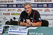 Romeo Sacchetti<br /> Banco di Sardegna Dinamo Sassari - Angelico Biella<br /> Legabasket Serie A Beko 2012-2013<br /> Sassari, 30/09/2012<br /> Foto L.Canu / Ciamillo-Castoria