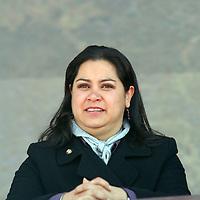 Toluca, Mex.- La senadora Adriana González Carrillo, estuvo presente durante  la ceremonia del XCVIII aniversario de la Revolución Mexicana y la entrega del Premio Estatal del Deporte. Agencia MVT / Etna Aguilar. (DIGITAL)<br /> <br /> <br /> <br /> NO ARCHIVAR - NO ARCHIVE