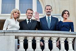 October 5, 2018 - Paris, France - King Felipe VI and Letizia of Spain accompany Brigitte and Emmanuel Macron to the Miro exhibition at the Grand Palais. (Credit Image: © Julien Mattia/Le Pictorium Agency via ZUMA Press)