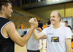 Goran Jagodnik and Dusan Hauptman during football and basketball charity event All Legends by Olimpiki, on June 9, 2015 in Hala Tivoli, Ljubljana, Slovenia. Photo by Vid Ponikvar / Sportida