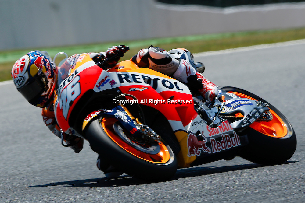 05.06.2016. Circuit de Barcelona, Barcelona,Spain. Grand Prix Monster Energy de Catalunya.  #26 Dani Pedrosa (Repsol Honda Team) in action  at the Circuit de Montmelo in Barcelona, Spain, June 5, 2016 .