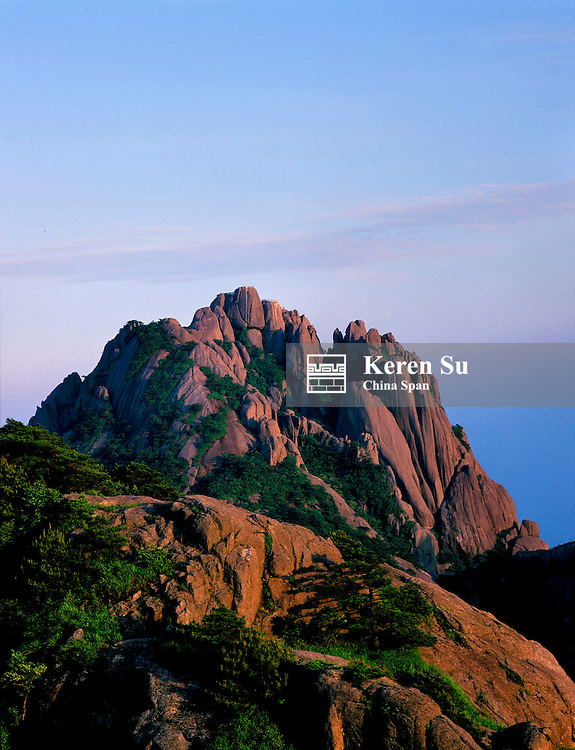 Landscape of Mt. Huangshan (Yellow Mountain), Anhui Province, China